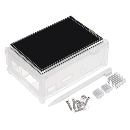 Geekcreit® 3.5 inch TFT LCD Touch Screen + Protective Case + Heatsink+ Touch Pen Kit For Raspberry Pi 3/2/Model